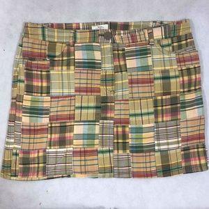 Ann Taylor Loft Patchwork Skirt Sz 16